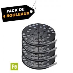 Rouleaux de masses zinguées et plastifiées 6 kg (x4) - Pack de  4 rouleaux