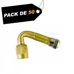 Rallonges de valve coudée (x50) - Pack de 50 unités