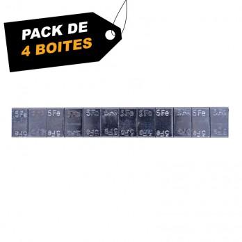 Boites de 6 KG (12x5g) de masse adhésive zinguée (x4) - Pack de 4 Boites