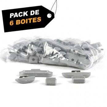 Masses jantes acier 50g (x300) - Pack de 6 boites