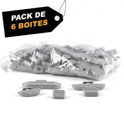 Pack de 6 boites de masses 40g jantes alu (x100)